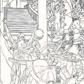 "(Detail) ""East Los Angeles College Auditorium Interior Mural"" Design, Los Angeles, California  USA  ©1991, Pencil on Paper"