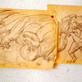 Filling up on Ancient Energies Mural Design, East Los Angeles, California  USA  ©1979, Pencil on Paper