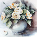 "ART HFrei - ""Mutters gelbe Rosen"" - Aquarell 2004"
