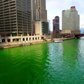 Chicago River am St. Patrick's Day