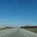 Auf der Interstate 80 Richtung South Bend
