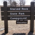 Campground im Starved Rock State Park