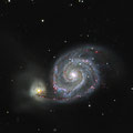 Die Whirlpool-Galaxie M51 am 30.03.2017 & am 21.03.2019 (Ha)