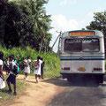 ... befahren Schulbusse die engsten Straßen