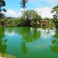 ... der Hot Water Springs von Ranolewo mit zauberhafter Silhouette