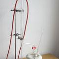 Eine Apparatur zur Veresterung unter Rückfluss (Dimrothkühler)