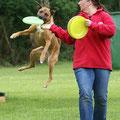 Frisbee Vorführung und WS mit Melanie