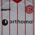Trikot, Heimtrikot, Saison 2017/2018, Fortuna Düsseldorf, Nr. 39, matchprepared, Jean Ndecky, Orthomol, Toyo Tires