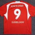 Trikot, Heimtrikot, Saison 2006/2007, Fortuna Düsseldorf, matchworn, Nr. 9, Yusuf-Muri Adewunmi, Puma, Stadtsparkasse Düsseldorf