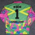 Trikot, Torwarttrikot, Saison 1995/1996, Fortuna Düsseldorf, matchworn, Nr. 1, Georg Koch, Umbro, Diebels/Diebels Alt