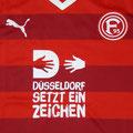 Trikot, Heimtrikot, Saison 2015/2016, Fortuna Düsseldorf, matchprepared, Nr. 20, Emanuel Iyoha, Puma, Düsseldorf setzt ein Zeichen