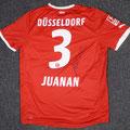 Trikot, Heimtrikot, Saison 2011/2012, Fortuna Düsseldorf, matchworn, Nr. 3,  Juan Antonio González Fernández, kurz: Juanan, Puma, Bauhaus