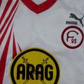 Heimtrikot, Saison 1991/1992, Fortuna Düsseldorf, Fanshopversion, Puma, ARAG