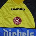 Trikot, Torwarttrikot, Saison 1997/1998, Fortuna Düsseldorf, matchworn, Nr. 32, Sven Neuhaus, Umbro, Diebels/Diebels Alt
