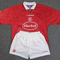 Trikot, Heimtrikot, Saison 1998/1999, Fortuna Düsseldorf, matchworn, Nr. 12, Arnold Dybek, Umbro, Henkel