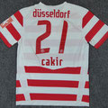 Trikot, Heimtrikot, Saison 2008/2009, Fortuna Düsseldorf, matchworn, Nr. 21, Hamza Cakir, Puma, Stadtsparkasse Düsseldorf