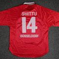 Trikot, Heimtrikot, Saison 2000/2001, Fortuna Düsseldorf, matchworn, Nr. 14, Ganiyu Shittu, Umbro, Henkel