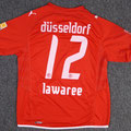Trikot, Heimtrikot, Saison 2009/2010, Fortuna Düsseldorf, matchworn, Nr. 12, Axel Lawarée, Puma, Stadtsparkasse Düsseldorf