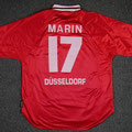 Trikot, Heimtrikot, Saison 2000/2001, Fortuna Düsseldorf, matchworn, Nr. 17, Marcus Marin, Umbro, Henkel