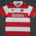 "Trikot, Heimtrikot, Saison 1995/1996, Fortuna Düsseldorf, Nr. 25, matchworn, Robert ""Pico"" Niestroj, Umbro, Diebels/Diebels Alt"
