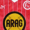 Trikot, Auswärtstrikot, Saison 1985/1986, Fortuna Düsseldorf, Nr. 10, matchworn, Calle del´Haye, Puma, ARAG