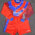 Trikot, Torwarttrikot, Torwarttrikot-Set, Saison 1998/1999, Fortuna Düsseldorf, Fanshopversion, Umbro, Henkel