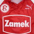 Auswärtstrikot, Trikot, Saison 1991/1992, Fortuna Düsseldorf, Nr. 14, Fanshopversion, Puma, Zamek