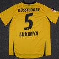 Trikot, Ausweichtrikot, Saison 2011/2012, Fortuna Düsseldorf, matchworn, Nr. 5, Assami Lukimya, Puma, Bauhaus
