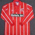 """Trikot, Auswärtstrikot, Saison 1994/1995, Fortuna Düsseldorf, matchworn, Nr. 4, Karl """"Carlo"""" Werner, Umbro, Diebels Alt, Diebels"""