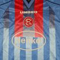 Trikot, Ausweichtrikot, Saison 1999/2000, Fortuna Düsseldorf, matchworn, Nr. 4, Rudi Zedi, Umbro, Henkel
