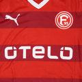 Trikot, Heimtrikot, Saison 2015/2016, Fortuna Düsseldorf, matchworn, Nr. 2, Julian Koch, Detail ACTV, Puma, Otelo