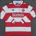 Trikot, Heimtrikot, Saison 1995/1996, Fortuna Düsseldorf, Nr. 5, matchworn, Frank Mill, Umbro, Diebels/Diebels Alt