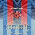 Trikot, Auswärtstrikot, Saison 1998/1999, Fortuna Düsseldorf, matchworn, Nr. 10, Igor Dobrovolksi, Umbro, Henkel