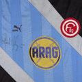 Trikot, Torwarttrikot, Saison 1986/1987, Fortuna Düsseldorf, matchworn, Nr. 1, Rudi Kargus, Puma, ARAG