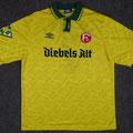 Trikot, Ausweichtrikot, Saison 1994/1995, Fortuna Düsseldorf, matchworn, Nr. 7, Vlatko Glavas, Umbro, Diebels Alt, Diebels