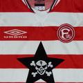 Trikot, Ausweichtrikot, Saison 2002/2003, Fortuna Düsseldorf, U23, Zwote, matchworn, Umbro, Die Toten Hosen
