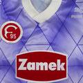 Trikot, Ausweichtrikot, Saison 1991/1992, Fortuna Düsseldorf, matchworn, Nr. 14, Puma, Zamek