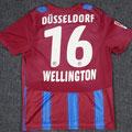 Trikot, Auswärtstrikot, Saison 2010/2011, Fortuna Düsseldorf, matchworn, Nr. 16, Luis des Sousa Wellington, Puma, Stadtsparkasse Düsseldorf