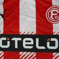 Trikot, Auswärtstrikot, Saison 2016/2017, Fortuna Düsseldorf, Nr. 11, matchworn, Axel Bellinghausen, Detail ACTV, Puma, Otelo