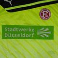 Trikot, Torwarttrikot, Saison 2012/2013, Fortuna Düsseldorf, U23, Zwote, matchworn, Nr. 25, Robin Heller, Puma, Stadtwerke Düsseldorf, Regionalliga West
