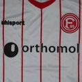 Trikot, Heimtrikot, Saison 2017/2018, Fortuna Düsseldorf, Nr. 33, anläßlich der Vorstellung von Takashi Usami, Orthomol