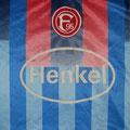 Trikot, Auswärtstrikot, Saison 1998/1999, Fortuna Düsseldorf, matchworn, Nr. 3, Pavel Bocian, Umbro, Henkel