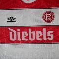 Trikot, Heimtrikot, Saison 1995/1996, Fortuna Düsseldorf, Nr. 29, matchworn, Ben Mangal, Umbro, Diebels/Diebels Alt
