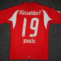 "Trikot, Heimtrikot ""Fanedition"", Saison 2007/2008, Fortuna Düsseldorf, matchprepared, Nr. 19, Ivan Pusic, Puma, SSK Stadtsparkasse Düsseldorf"