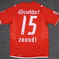 Trikot, Heimtrikot, Saison 2009/2010, Fortuna Düsseldorf, matchworn, Nr. 15, Patrick Zoundi, Puma, Stadtsparkasse Düsseldorf