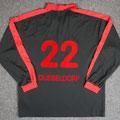 Trikot, Auswärtstrikot, Saison 2002/2003, Fortuna Düsseldorf, matchworn, Nr. 22, Umbro, Die Toten Hosen