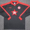 Trikot, Auswärtstrikot, Saison 2001/2002, Fortuna Düsseldorf, Nr. 16, Goran Vucic, matchworn, Umbro, Die Toten Hosen, DTH