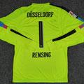 Trikot, Torwarttrikot, Saison 2016/2017, Fortuna Düsseldorf, Nr. 1, matchworn, Michael Rensing, Otelo
