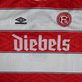 Trikot, Heimtrikot (Variante), Fortuna Düsseldorf, Saison 1994/95, matchprepared, #7, Vlatko Glavas, Umbro, Diebels, 100 Jahre Fortuna Düsseldorf
