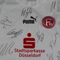 Fortuna Düsseldorf, Trikot, Auswärtstrikot, Saison 2004/2005, signiert vom Kader 2008/2009, Puma, Stadtsparkasse Düsseldorf